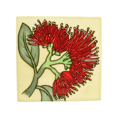 Art Tile Native NZ Pohutukawa