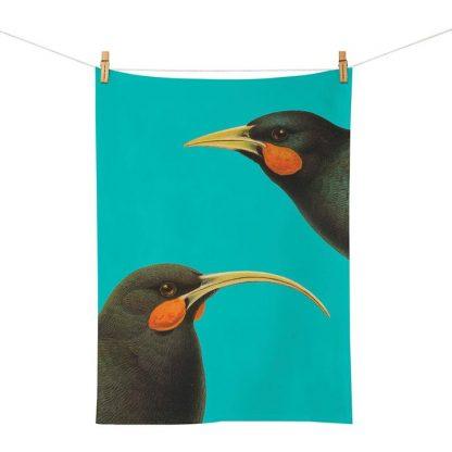 Native NZ Bird Tea Towel Huia