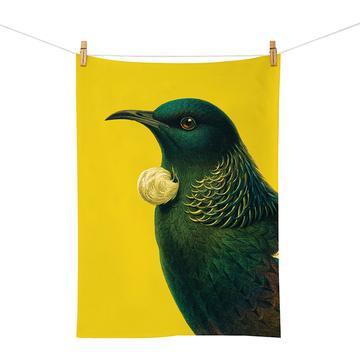 Native NZ Bird Tea Towel Tui