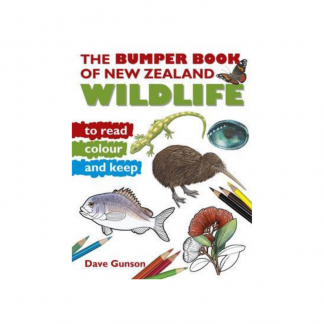 Bumper Book of NZ Wildlife to Read Colour and Keep Pukorokoro Miranda Shorebird Centre bookshop