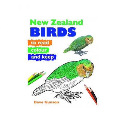 NZ Birds to Read Colour and Keep Pukorokoro Miranda Shorebird Centre bookshop
