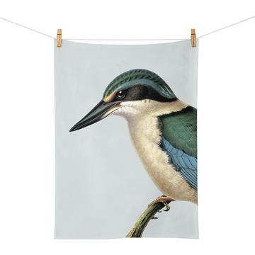 Native NZ Bird Tea Towel Kingfisher Kotare