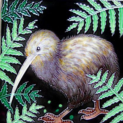 Art Tile Native NZ Bird Kiwi
