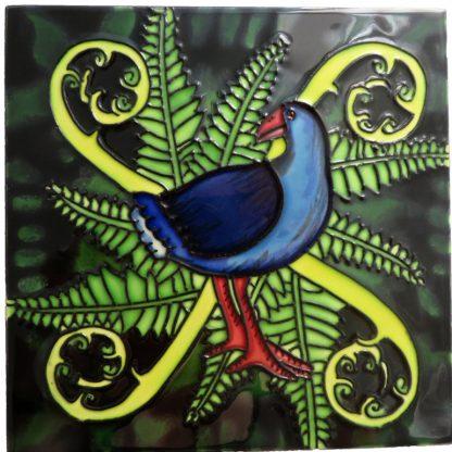 Art Tile Native NZ Bird Pukeko