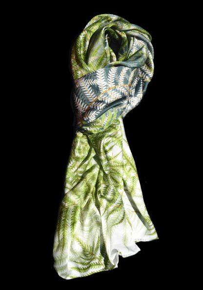 Silk Scarf NZ Native Fern